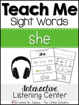 Teach Me Sight Words: SHE [Interactive Center with Printab