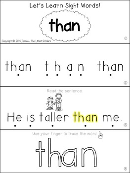 Teach Me Sight Words: THAN [Interactive Center with Printables and Audio]