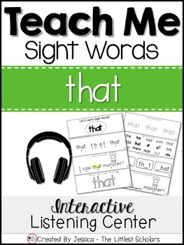 Teach Me Sight Words: THAT [Interactive Center with Printa