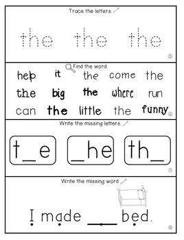 Teach Me Sight Words: THE [Interactive Center with Printables and Audio]