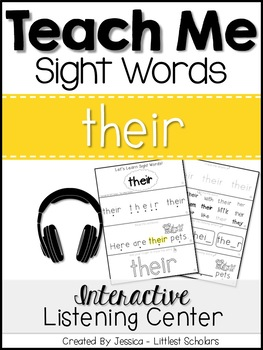 Teach Me Sight Words: THEIR [Interactive Center with Printables and Audio]