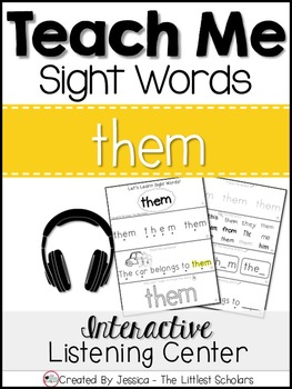 Teach Me Sight Words: THEM [Interactive Center with Printables and Audio]