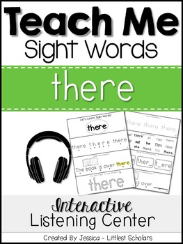 Teach Me Sight Words: THERE [Interactive Center with Printables and Audio]