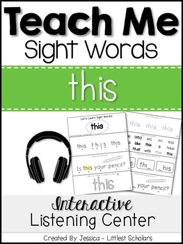 Teach Me Sight Words: THIS [Interactive Center with Printa