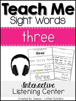 Teach Me Sight Words: THREE [Interactive Center with Print