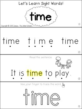 Teach Me Sight Words: TIME [Interactive Center with Printables and Audio]