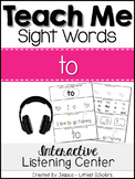 Teach Me Sight Words: TO [Interactive Center with Printabl