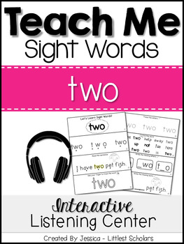 Teach Me Sight Words: TWO [Interactive Center with Printab