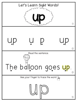 Teach Me Sight Words: UP [Interactive Center with Printables and Audio]