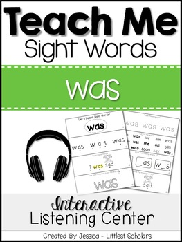 Teach Me Sight Words: WAS [Interactive Center with Printables and Audio]