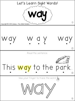 Teach Me Sight Words: WAY [Interactive Center with Printables and Audio]