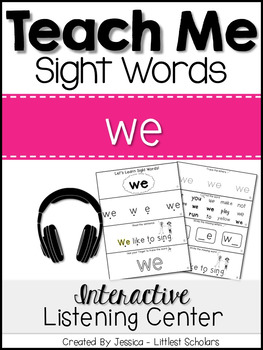 Teach Me Sight Words: WE [Interactive Center with Printabl