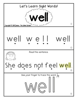 Teach Me Sight Words: WELL [Interactive Center with Printables and Audio]