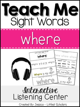 Teach Me Sight Words: WHERE [Interactive Center with Print