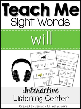 Teach Me Sight Words: WILL [Interactive Center with Printables and Audio]