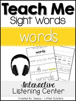 Teach Me Sight Words: WORDS [Interactive Center with Printables and Audio]