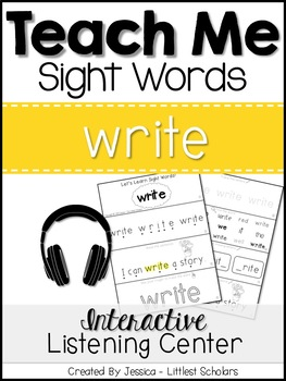 Teach Me Sight Words: WRITE [Interactive Center with Print