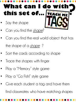 Teach Me Tags: 2d and 3d Shapes