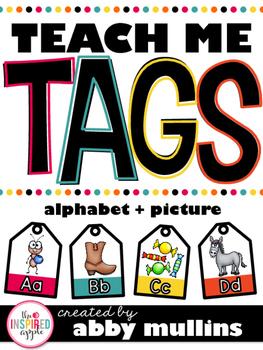 Teach Me Tags: Alphabet + Picture