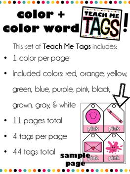 Teach Me Tags: Colors