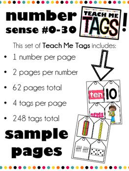 Teach Me Tags: Numbers 0-30