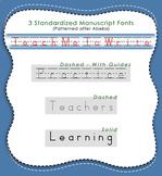 Teach Me To Write Manuscript Font