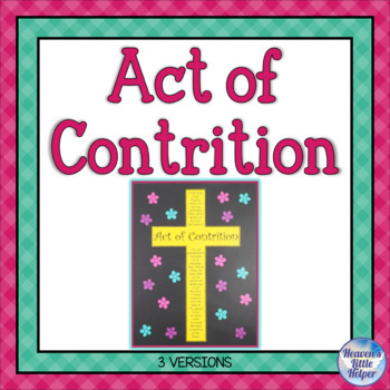Teach Me to Pray the Act of Contrition {Heaven's Little Helper}