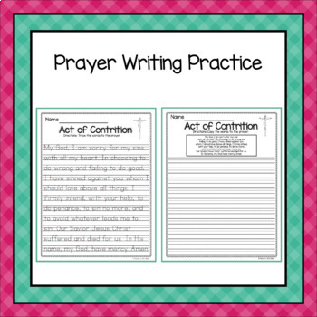 Catholic Prayer - Act of Contrition