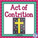 Catholic Religion Act of Contrition Prayer