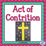 Catholic Religion Act of Contrition Prayer