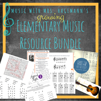 Teach Music With Mrs. Hagemann's GROWING Elementary Music Resource Bundle