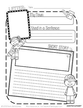 Parts of Speech Bundle: Nouns, Adjectives and Adverbs {Creative & Hands-On}