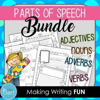 Parts of Speech Bundle: Nouns, Adjectives and Adverbs {Cre
