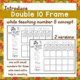 Fall Activity Teach No. 5 Concept w/ Double 10 Frame Counting Leaves Free Sample