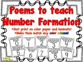 Teach Number Formation with these Poems!