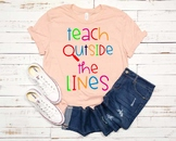 Teach Outside The Lines SVG Teacher Love english math science end of year 1247s