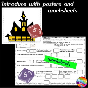 Teach PLACE VALUE Game for Math Centers or Whole Class