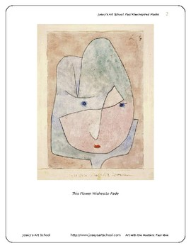 Teach Paul Klee to PreK-6th Grade: Klee Inspired Masks Art lesson and Biography
