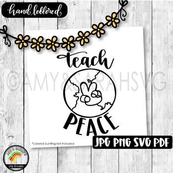 Teach Peace SVG Design