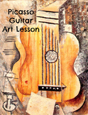 Art Lesson Pablo Picasso Guitar Grades K-6 Art History Project Common Core ELA