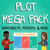 Elements of Plot Lesson Plans - Presentation, Plot Diagram Poster, Notes, & More