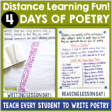 Teach Poetry in 4 Days!    Distance Learning   Homeschool