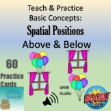 Teach & Practice Basic Concepts:  Spatial Positions - Above & Below
