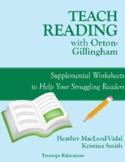 Teach Reading with OG: Supplemental Worksheets