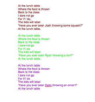 Teach Rhyme and Rhythm Down by the Bay Parody