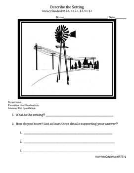 Teach Setting: Describe the setting from an illustration C