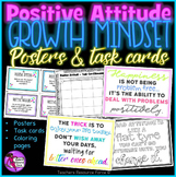 Positive Attitude Growth Mindset Task Cards, Posters and C