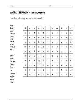 SPANISH - NUMBERS 1-10