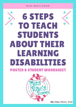 Teach Special Education Students about their Learning Disabilities Activity
