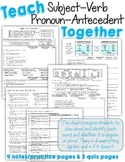 Teach Subject-Verb and Pronoun-Antecedent Agreement TOGETH